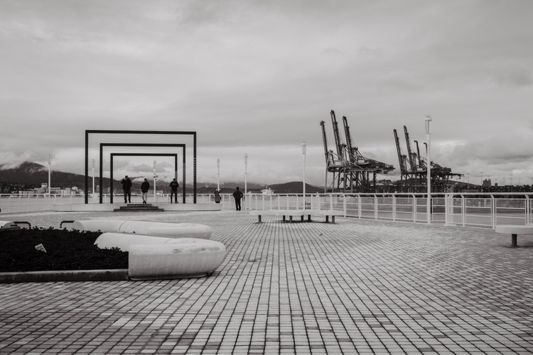 Vancouver Harbour - monochrome, blackandwhitephoto - kch | ello