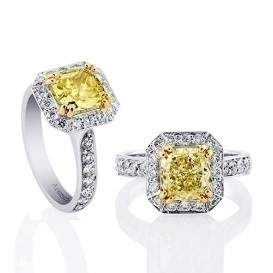 yellow diamond engagement rings - barbaramorgan   ello