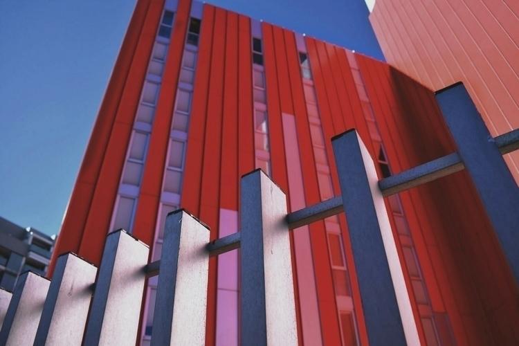 Red color - red, bulding, valencia - esmaphoto | ello