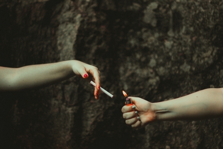 real talk started cigarette - carameluh | ello