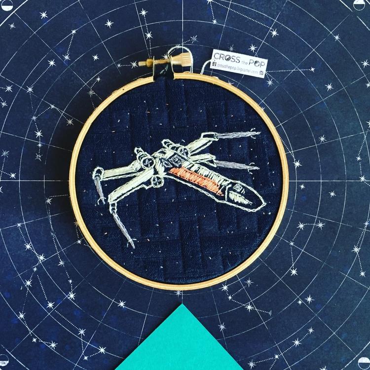 starwars, embroideredart, starwarsart - crossthepop | ello