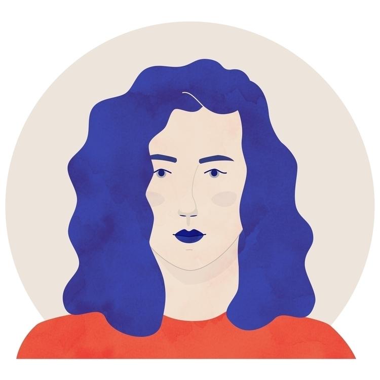 illustration style - selfportrait - jessharrington | ello