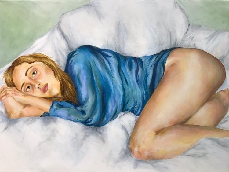 Mearl Resting 3.5 ft 2.5 - painting - oliviadiamond | ello