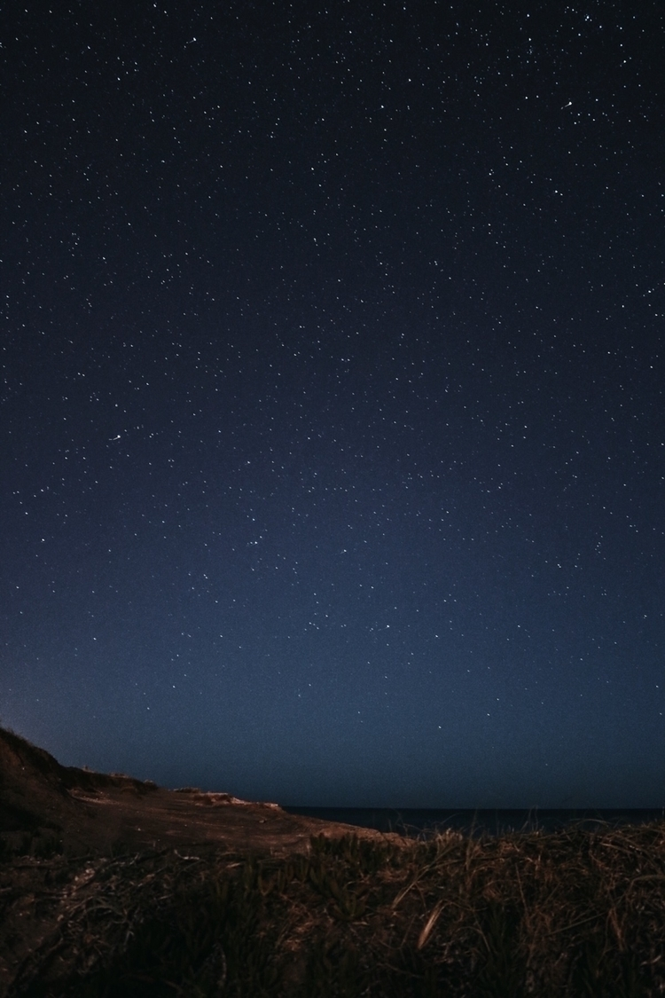 night, stars, photography, landscape - solbarroso | ello