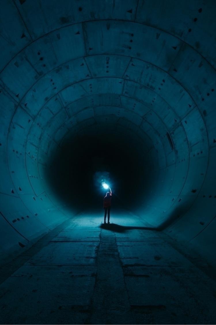 Lost ~#urbex - lost, tunel, light - loquehayquever | ello