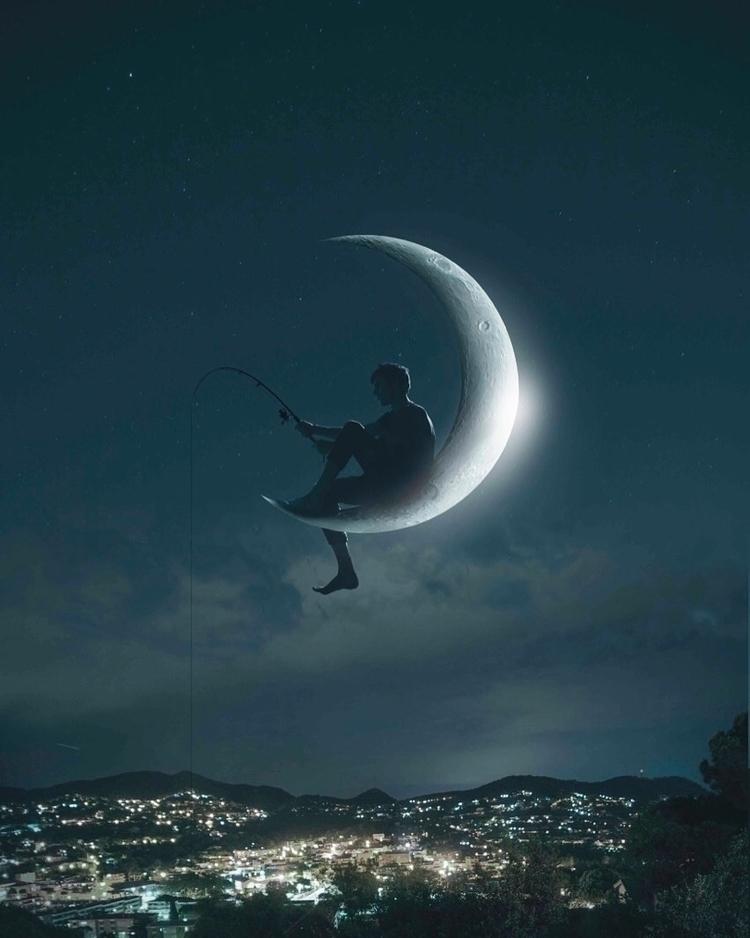 dreamworks, moon, night, silhouette - sergitugas | ello
