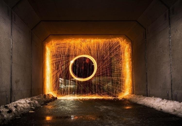 time experimenting steel wool.  - blahkeh | ello