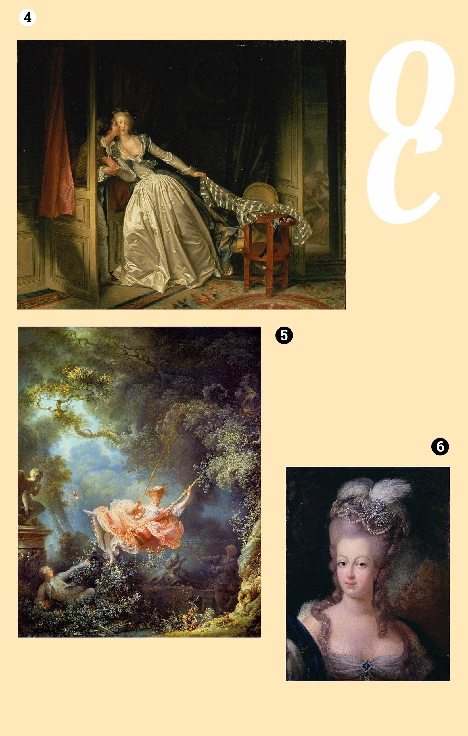 Obraz przedstawia trzy fotografie na jasnobeżowym tle. Widzimy XVIII wieczne obrazy olejne.