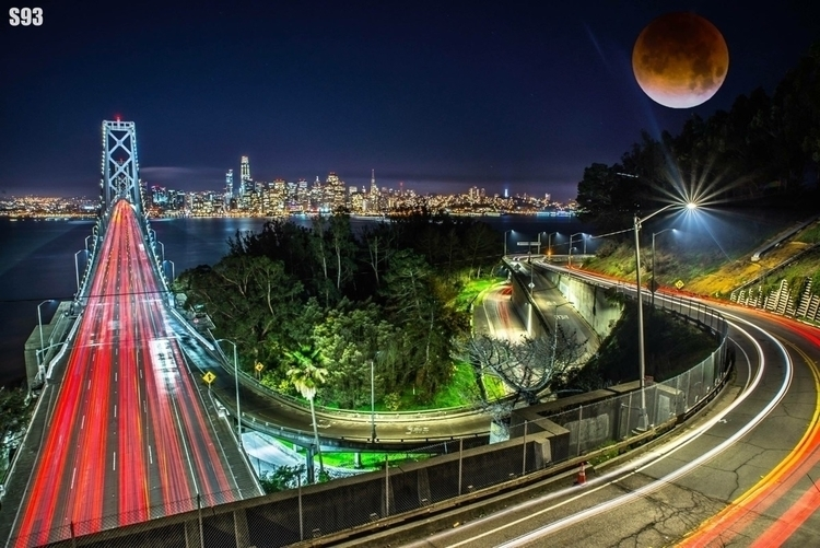 Super blue blood moon :full_moo - s93photography | ello