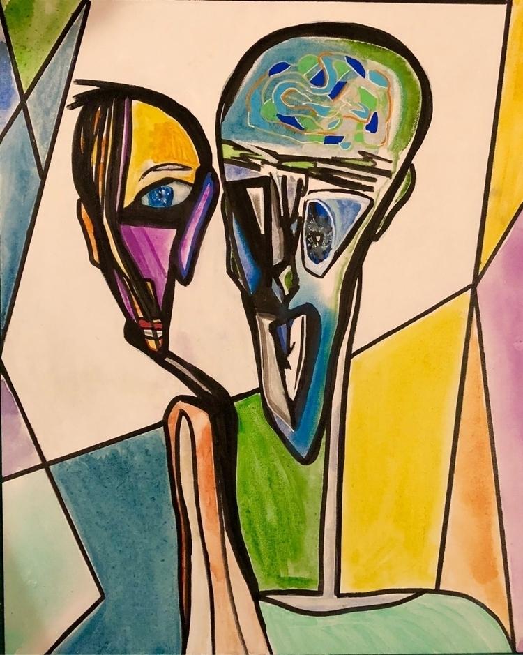 Talk - abstract watercolor. Sub - nash-heff | ello