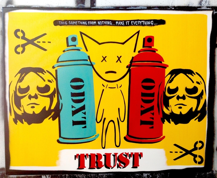 24x30x2 acrylic spray paint can - odxt | ello