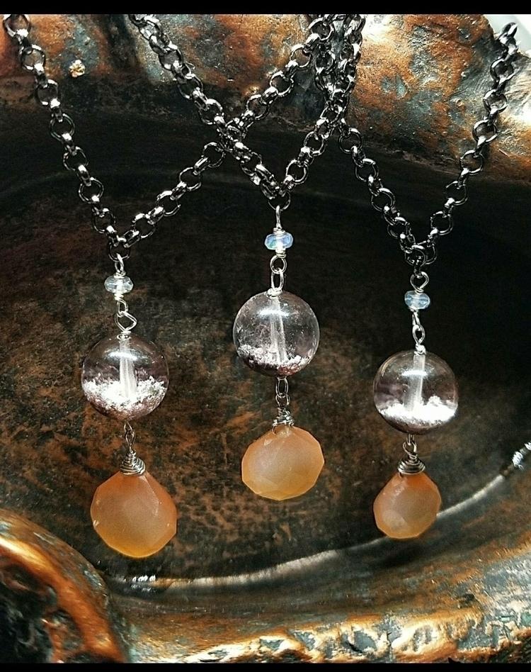 lolafaejewelry, lodolite, moonstone - lolafaejewelry | ello