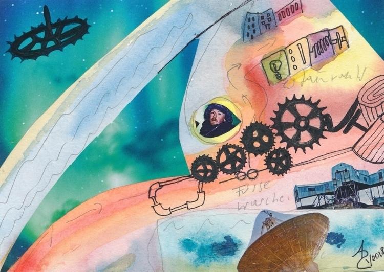 Wonderful mail art Annette Behl - papiergedanken-collage-art | ello