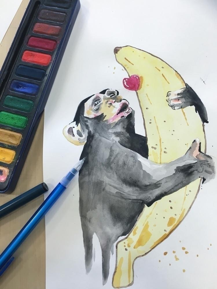 Watercolour inspired Lora Zombi - evelynbec | ello