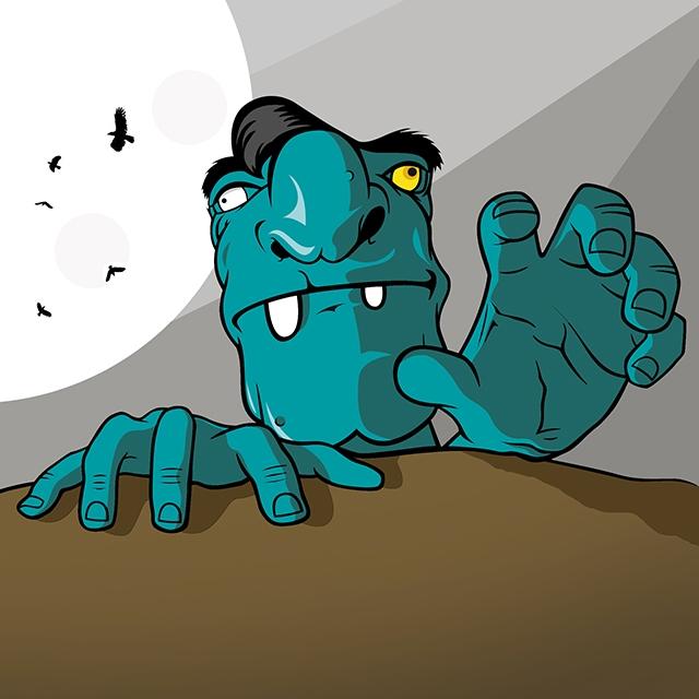 Zombie. Illustrator // Photosho - deusdg | ello