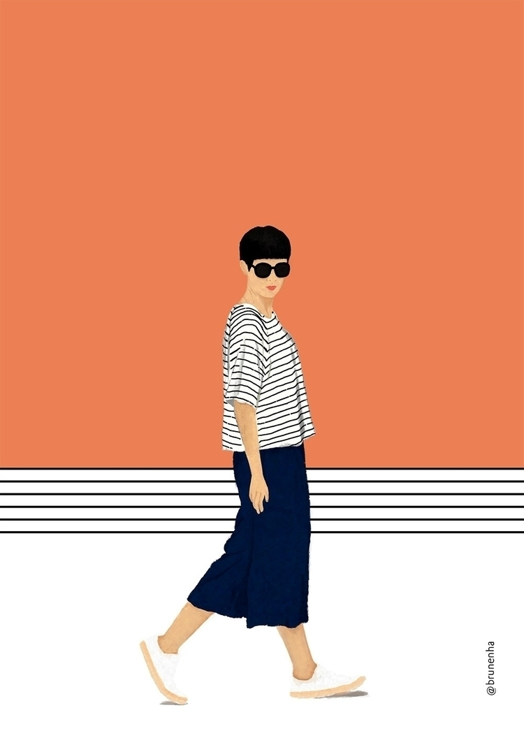 illustration, fashion, fashionillustrator - brunenha | ello