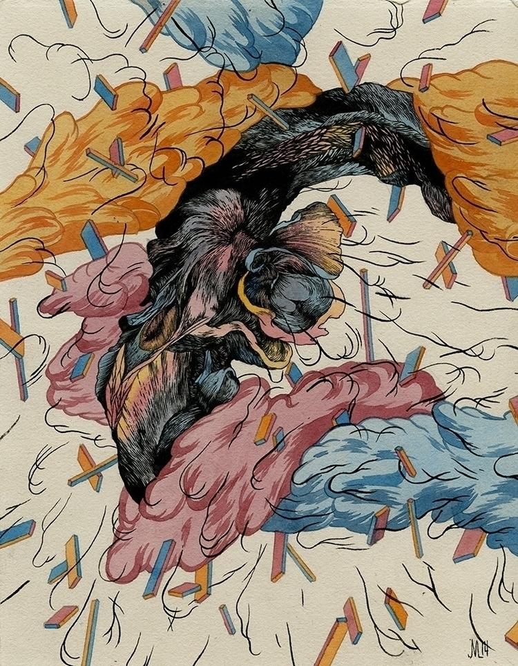 Flower Watercolor, ink, gouache - jacobvanloon | ello
