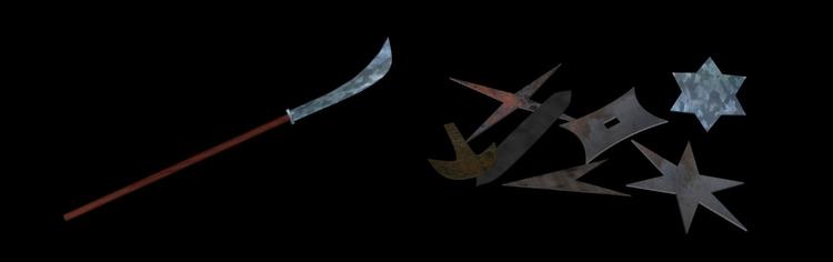 created 3D models Ninja weapons - kogakure | ello