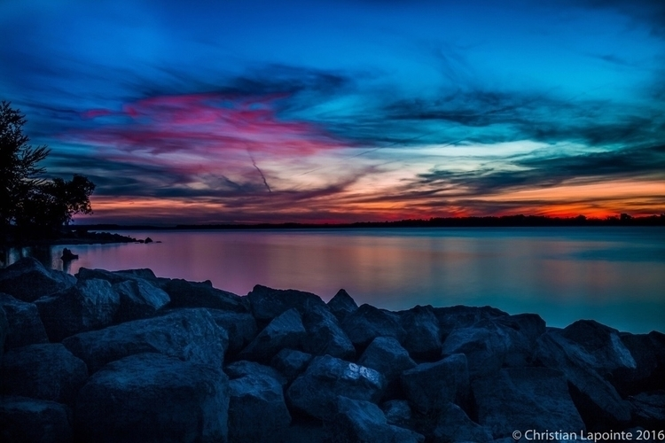 sunset, colors, riverside, ottawa - chris2187 | ello
