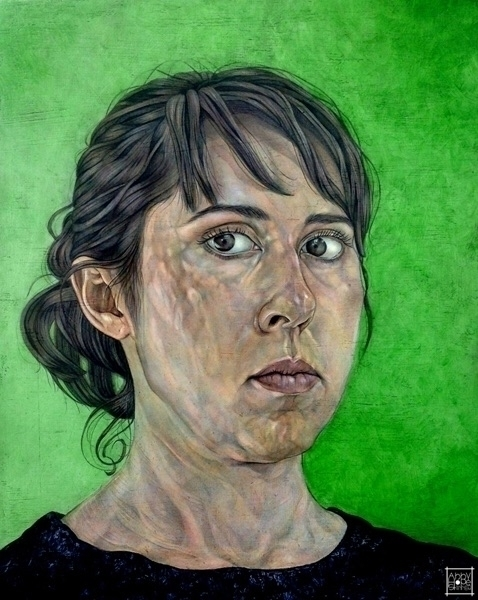 Portrait Green Background'. Sho - abbyhopeskinnerart | ello