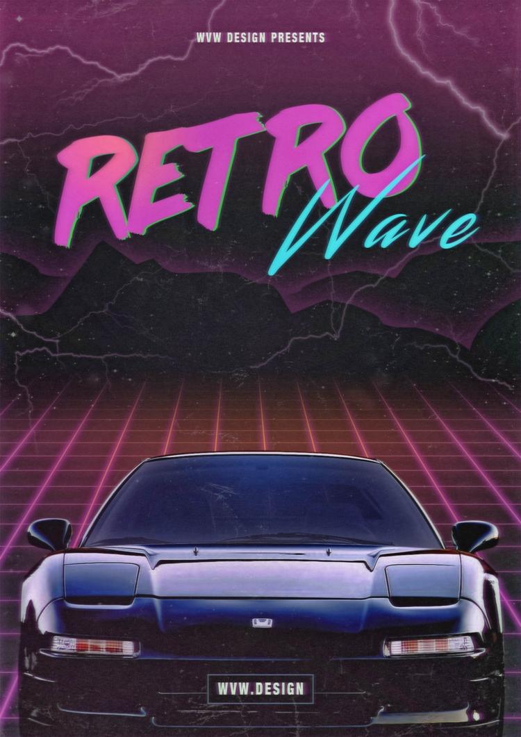 RetroWave Poster Design, NSX - retro - wvw001 | ello