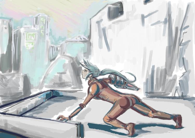 cyberpunk sketch world! call Jo - nikita_r | ello