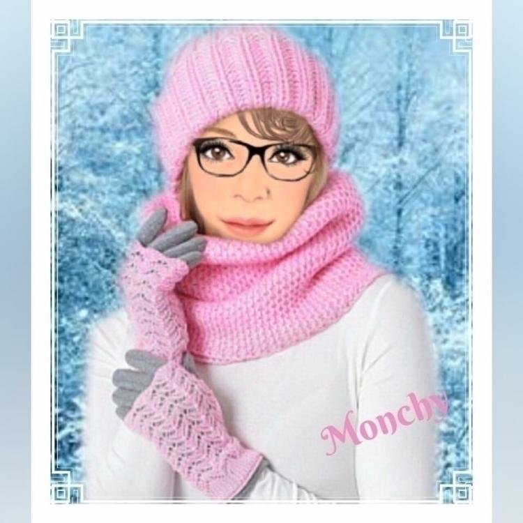 scarf gloves hat - pink, pink, pink - monchy | ello