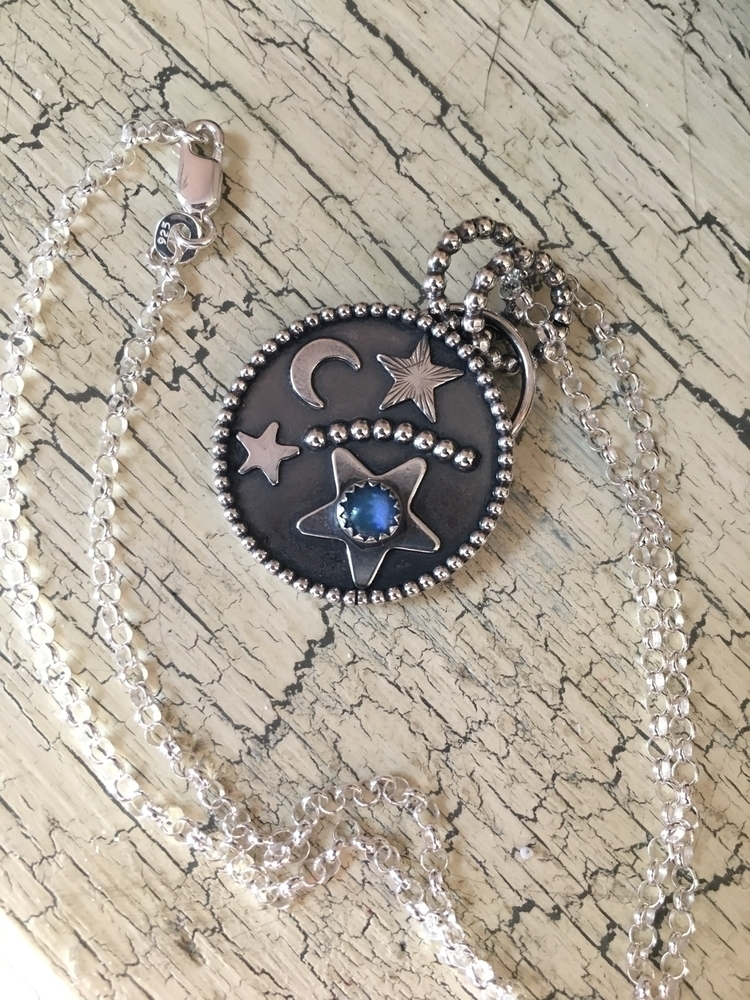 Shooting star pendant - silver, jewelry - lollypopsparade   ello