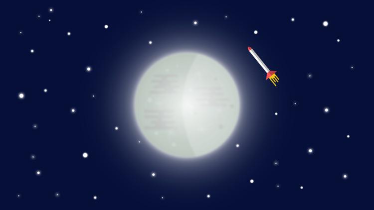 passing - vector, illustration, moon - blazingfire | ello