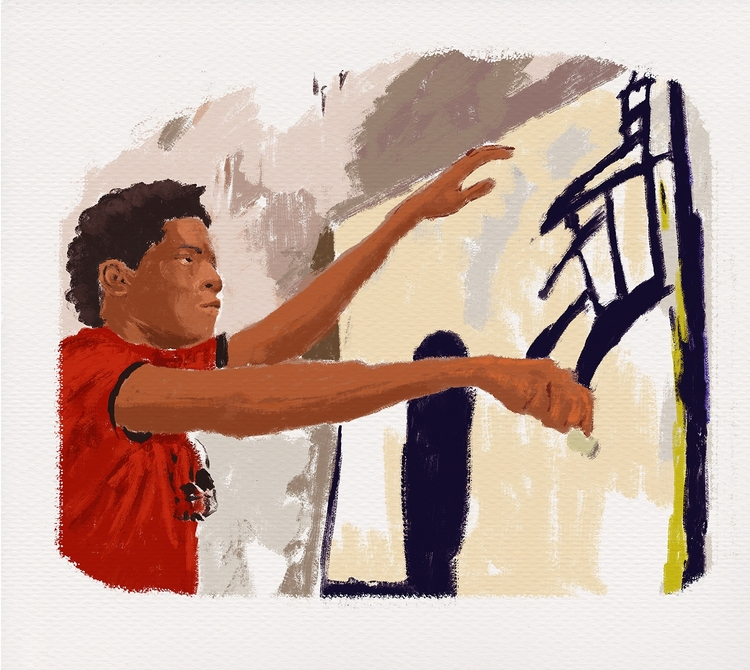 Jean-Michel painting - illustration - zoe_vadim | ello