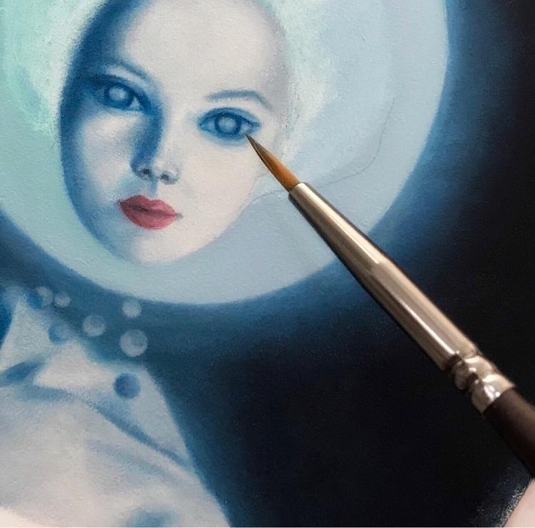 Blue Sunday ~ Working painting  - carolinaseth | ello
