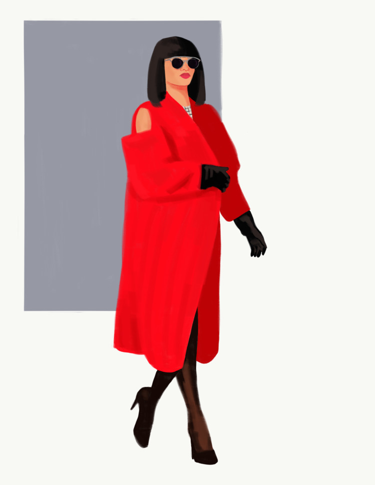 Rihanna fashion week - rihanna, illustration - cariguevara | ello
