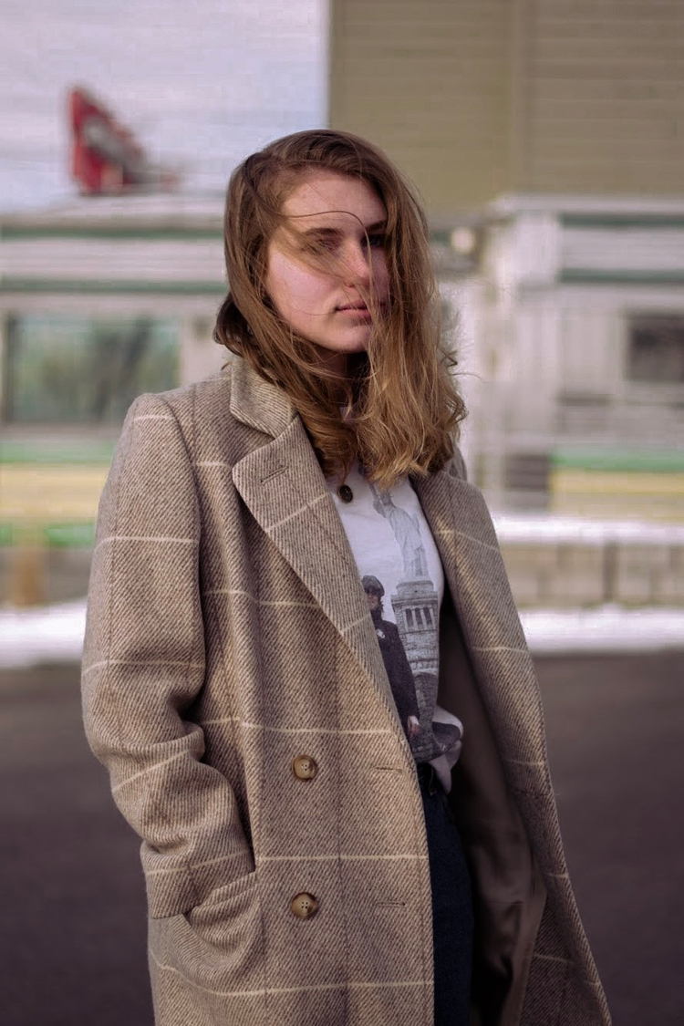 hair face - jacket, vintage, tones - prestonbellini | ello