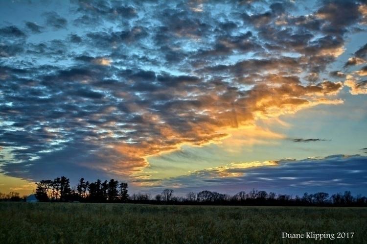 gorgeous Sunset Iowa Prairie No - bonfire_photography | ello