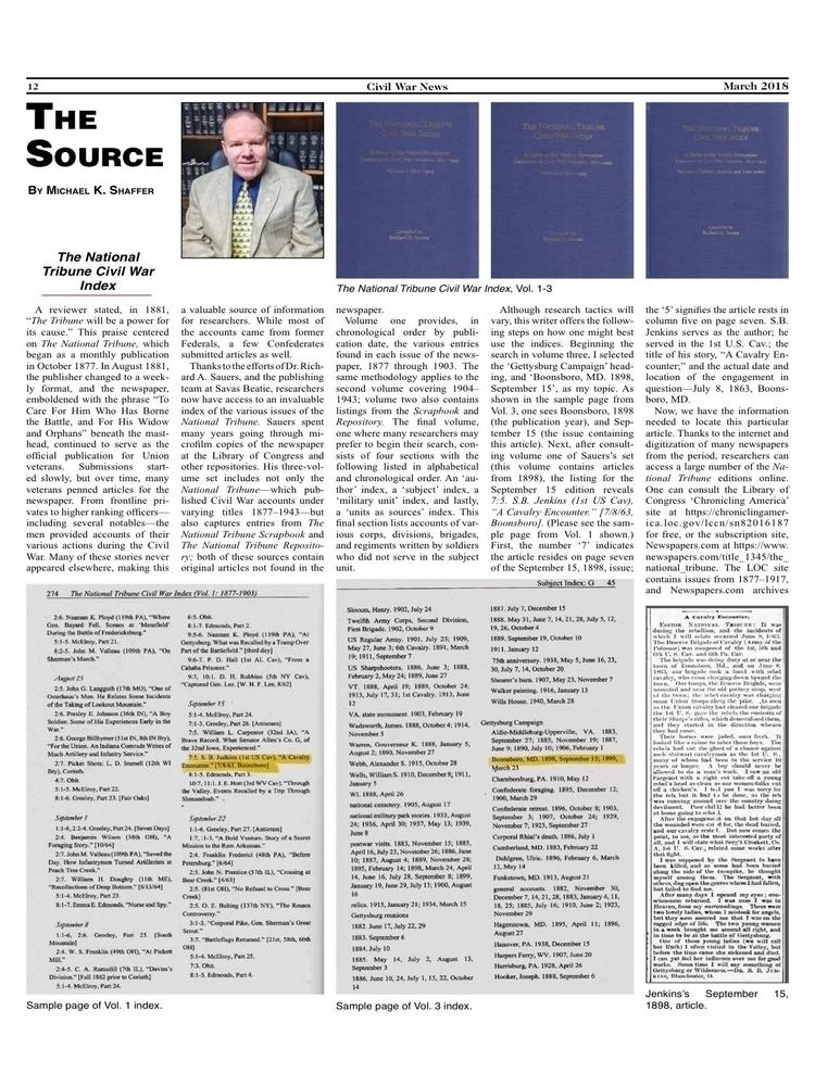 March 2018 Source' article. Sub - mscivilwar   ello