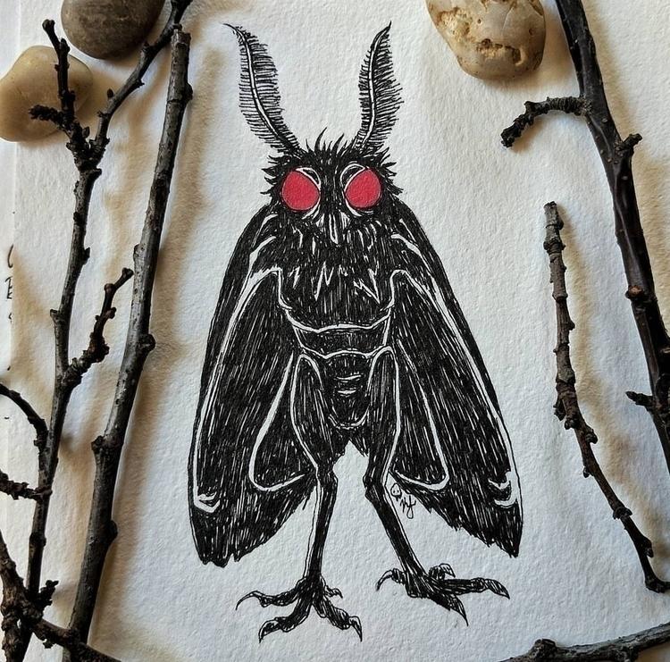 moth man • kris lorraine - illustration - krislorraine | ello