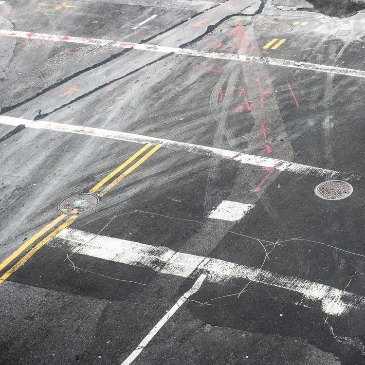 Road surface, York, USA. Colin  - cdutton | ello