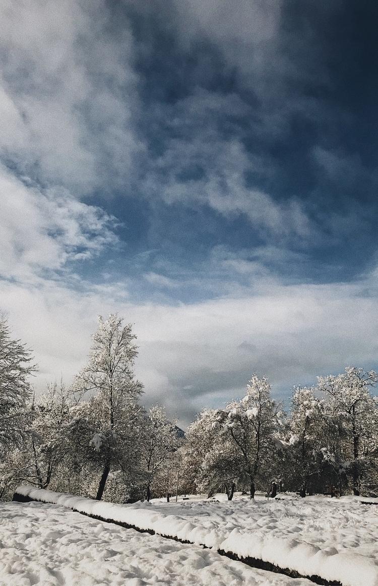 landscape, snow, nieve, blackandwhite - slraquel | ello