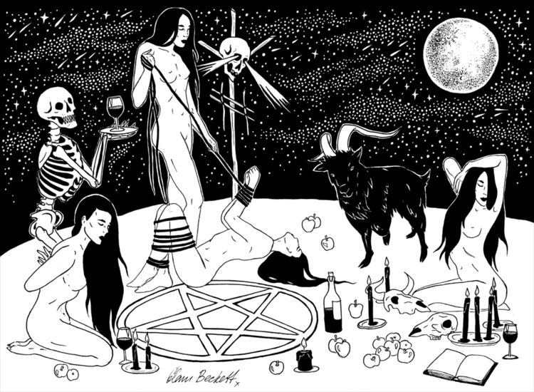 Witches Sabbath - ink, drawing, dark - glambeckett | ello