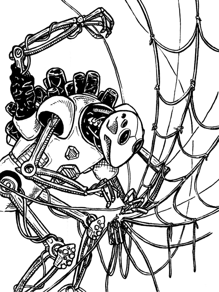 spider-robot...  - drunkillustrationtuesday - drunkillustrationtuesday | ello