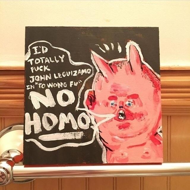 "Homo"" 2018. Acrylic wood. 6""x6 - damianrivera | ello"