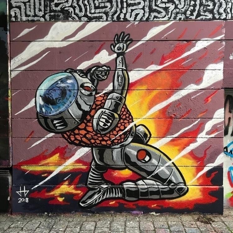 Burning love - Austrianaut, streetart - deadbeathero | ello