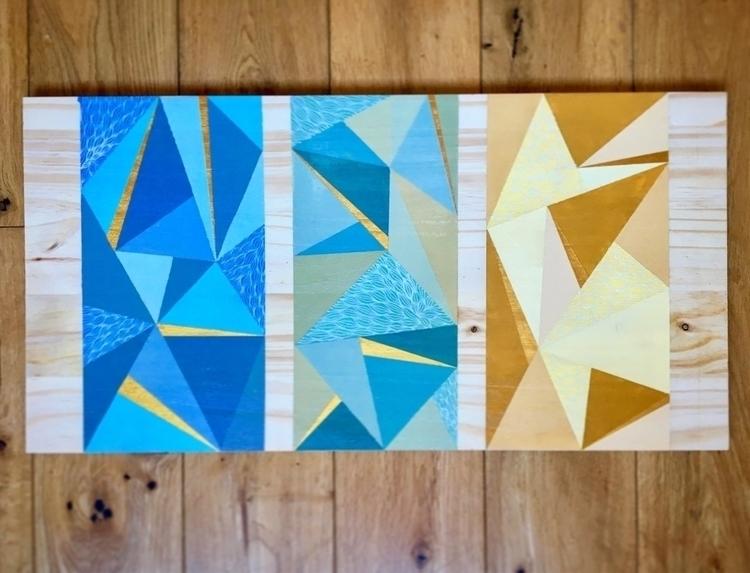 Triptych 2016 - art, triptych, posca - hollywardart | ello