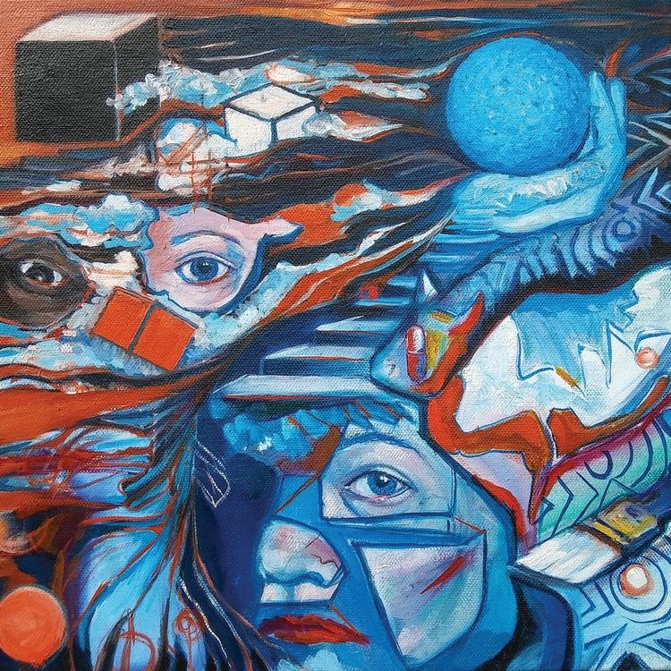 Unboxing, 12x12 Oil canvas, 201 - jenniewest | ello