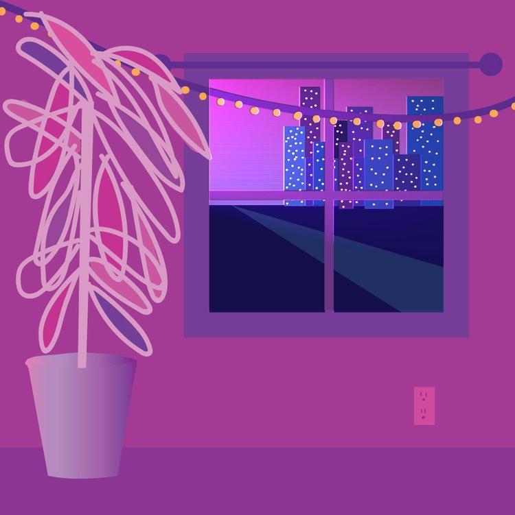 purple feelings - graphic, design - aaleighh   ello