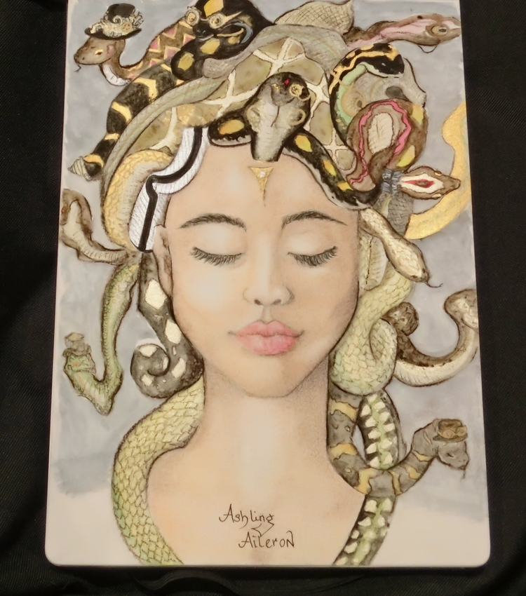 Medusa, misunderstood Mixed med - ashling_aileron | ello