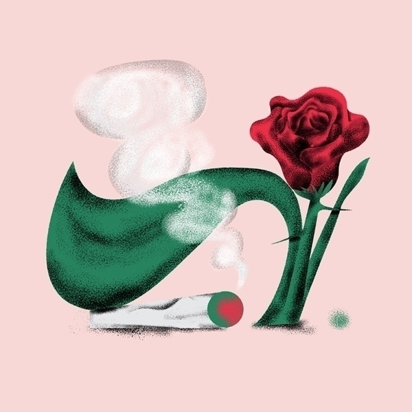Weed roses - weed, cannabis, weedart - juanbar | ello