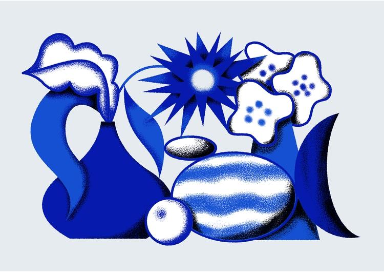 Blue Life Naturaleza Muerta Azu - juanbar | ello