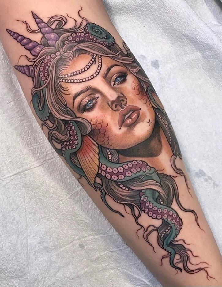 love good mermaid tattoo! Saman - ellotattoos | ello