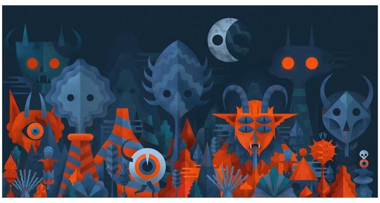 Nocturnal Landscape - Digital i - niark1 | ello